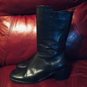 Directions black leather boots